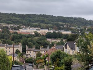 View of Bath - from Camden towards Warminster Road and Bathampton Down