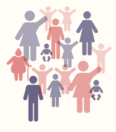 image containing icons of different types of people